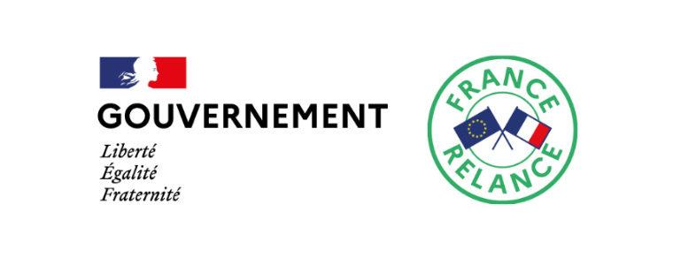 Logo du plan de relance financé par le gouvernement français